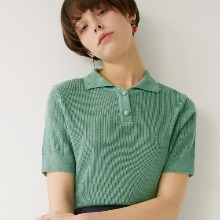 [리퍼브] Two Button Collar Knit