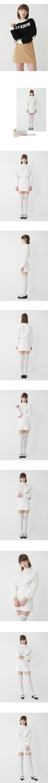 루흠(RUHM) 텐더 플리스 스커트 - 아이보리